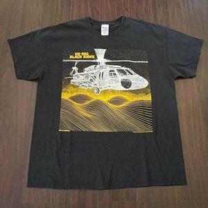 Gildan Mens UH 60A Black Hawk Blackbird T Shirt XL